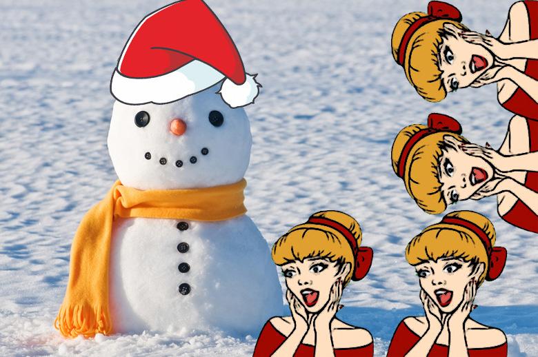 Снеговик, зима, лепка снеговика, зимний отдых