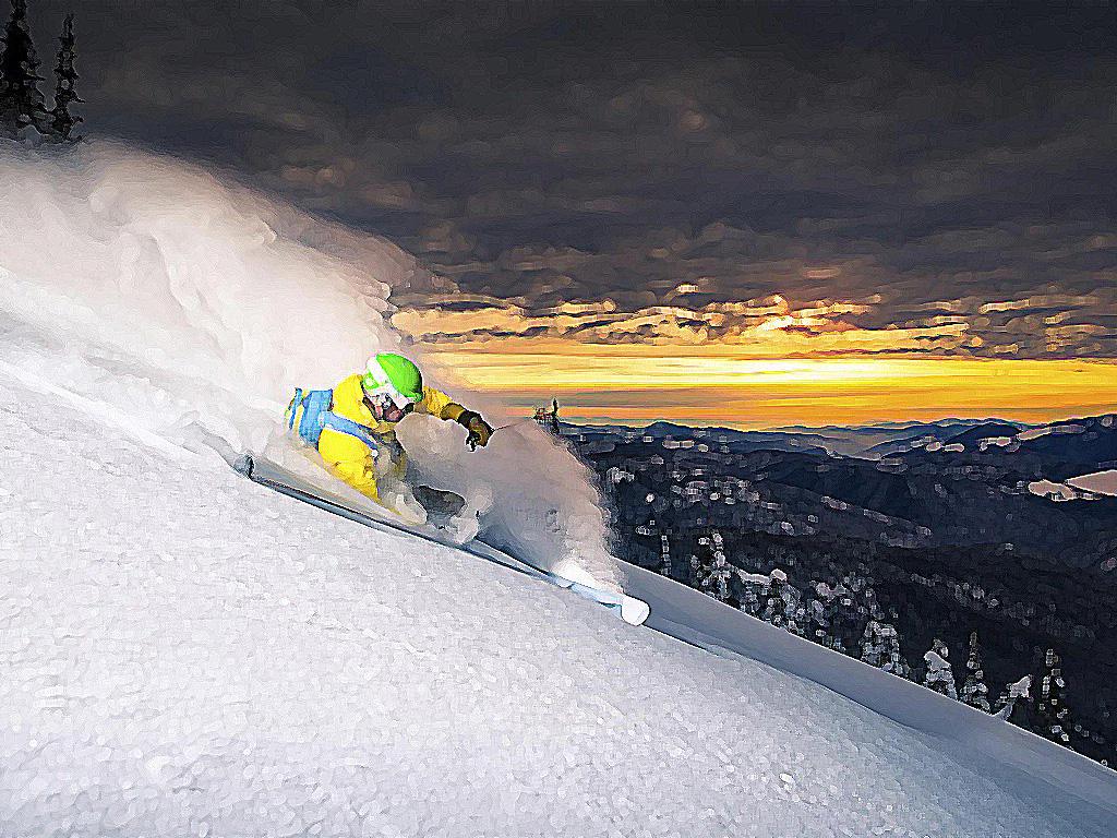cтили катания на горных лыжах