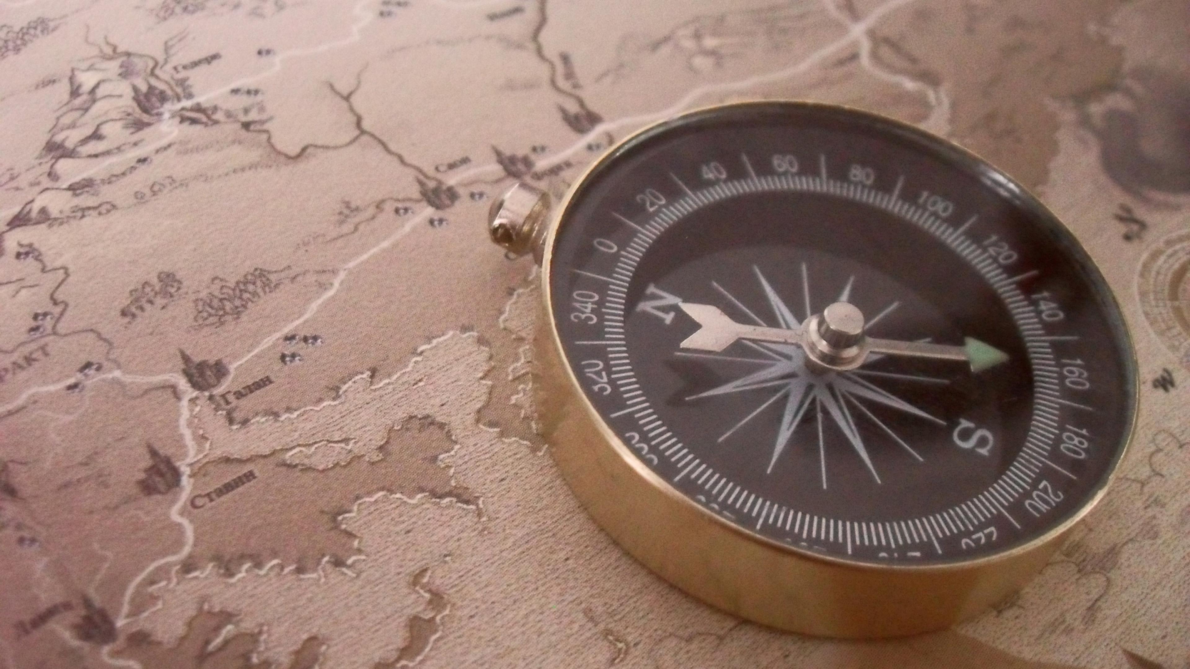 как ориентироваться по компасу