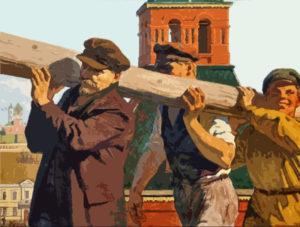 Ленин на субботнике
